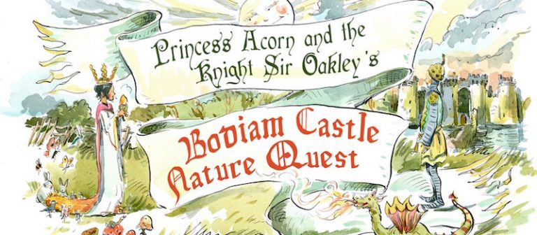 Children\'s Princess and Knight Nature Trail at Bodiam Castle