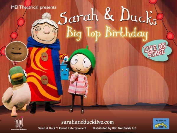 Sarah and Duck at Chequer Mead Theatre