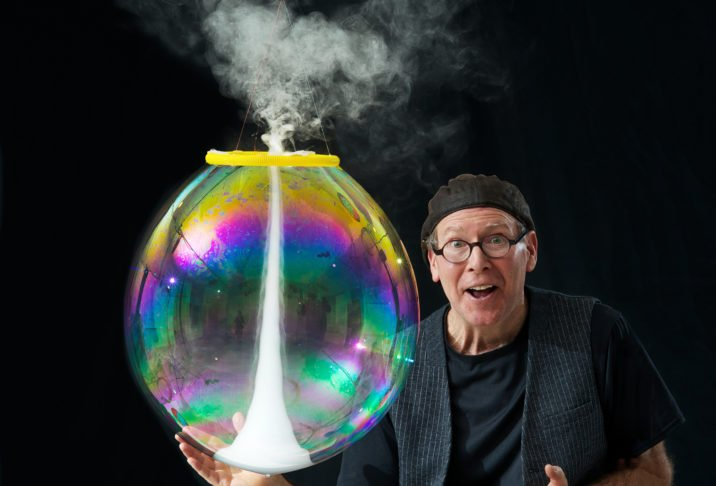 The Amazing Bubble Man at Ropetackle Arts Centre