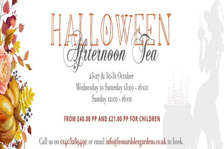 Halloween Afternoon Tea at Leonardslee Lakes and Gardens 2020