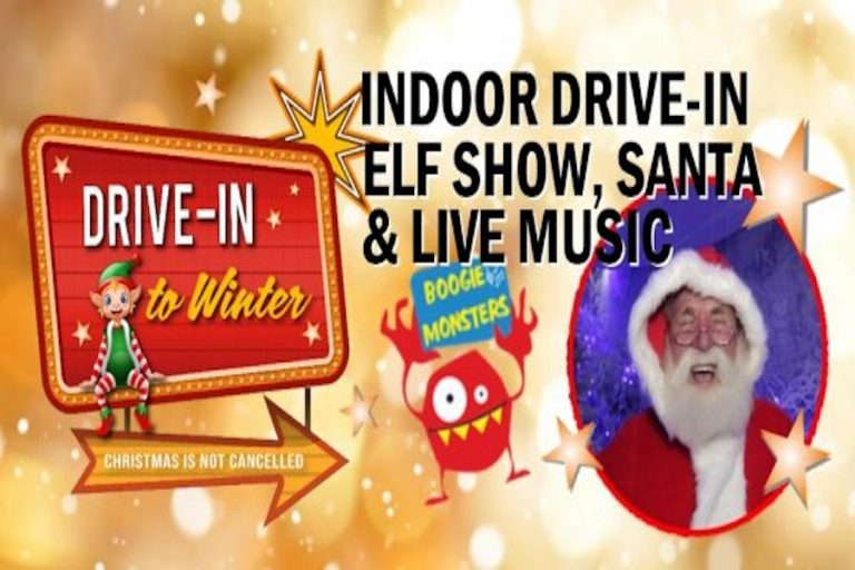 Indoor Drive-In Elf Show Sunroof Santa and Live Music