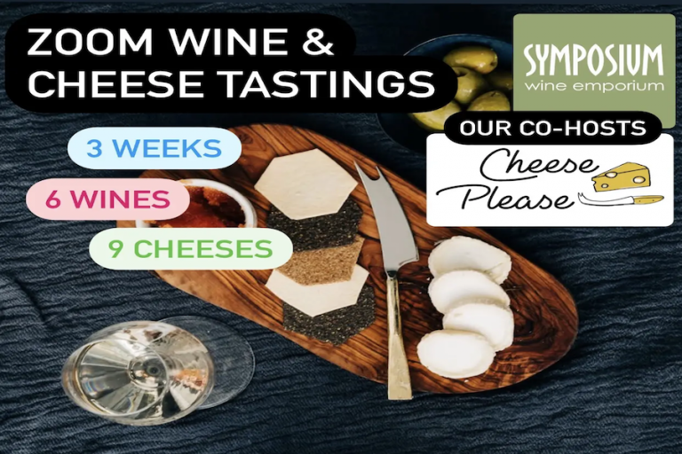 Zoom Wine and Cheese Tasting Evenings