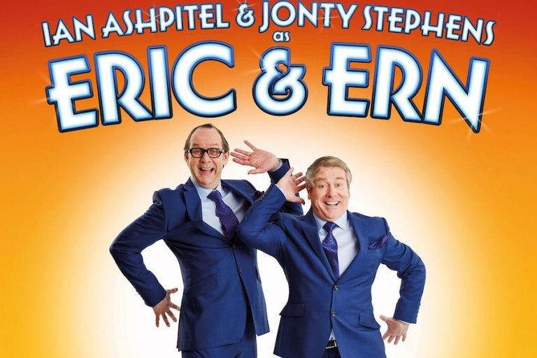 Ian Ashpitel and Jonty Stephens as Eric and Ern at The Capitol Horsham