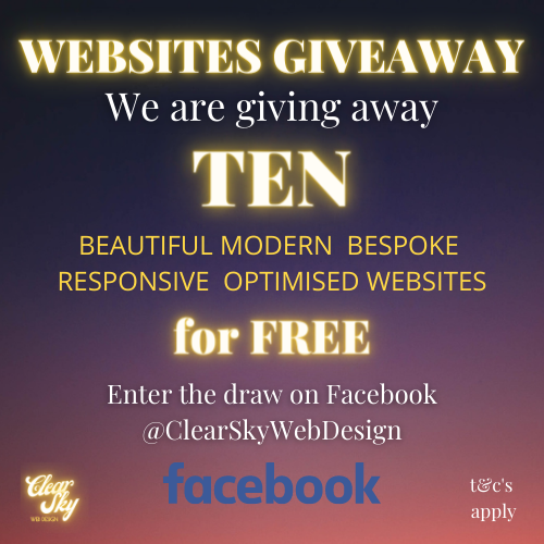 Website Giveaway by Clear Sky Web Design Ltd Ad for TTDIS