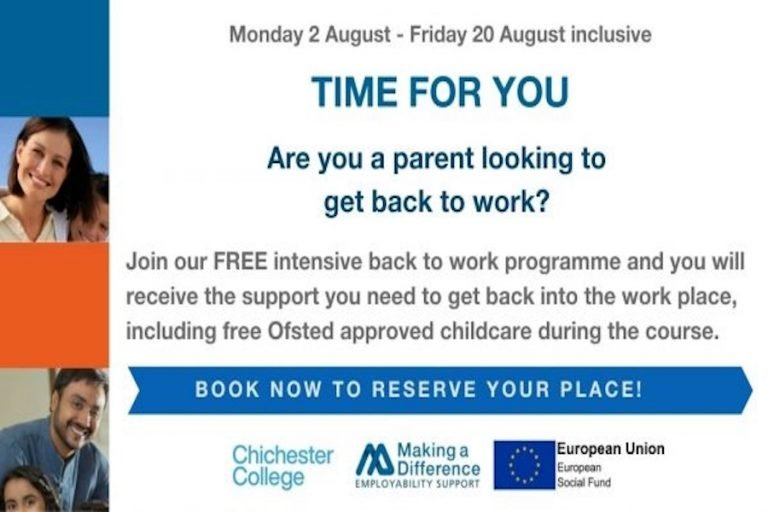 Time For You: Back To Work Programme For Unemployed Parents at Chichester College